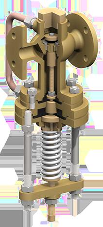 Double control reducing valve